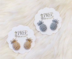 Pineapple~ Pearl Studs