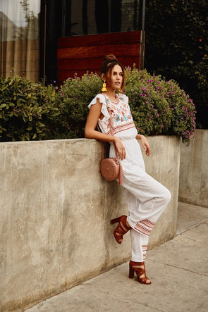 The Magnolia Embroidered Jumpsuit