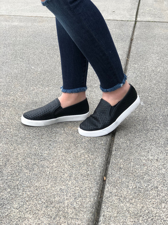 Step It Up Slip Ons Black