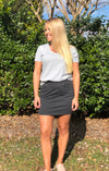 The Knit Mini Skirt Black