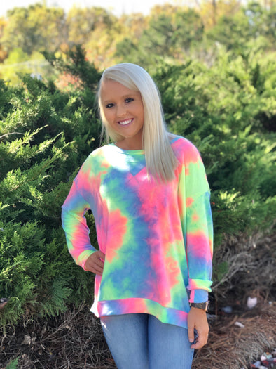 The Molly Tie Dye Pullover Pastel