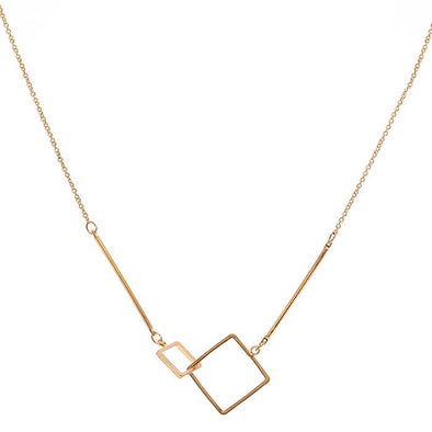 Super Square Necklace Gold