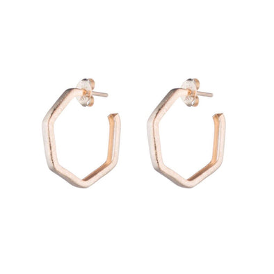 Lure Hoops Brushed Rose Gold