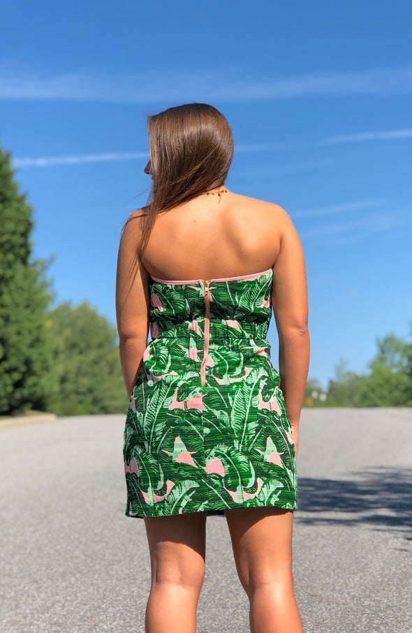 Troop Palm Springs Strapless Dress