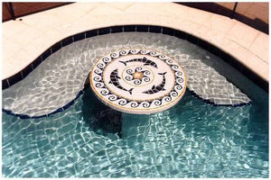 Table Top with Dolphin Medallion