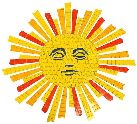 Sun Face Medallion