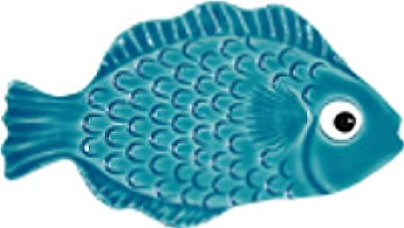 Ceramic Mosaic Aqua Tropical Fish for Swimming Pools