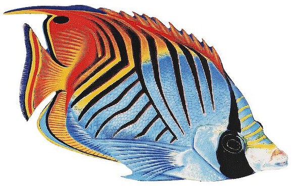Threadfin Butterfly Fish Swimming Pool Mosaic Tile