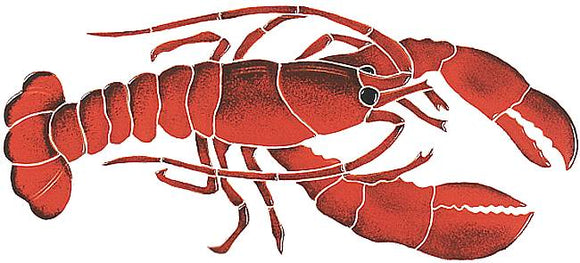 Lobster Swimming Pool Mosaic Tile | Lobster Pool Tile