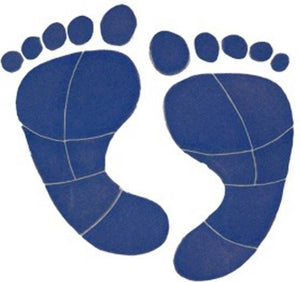 #3049 Footprints Medium Blue