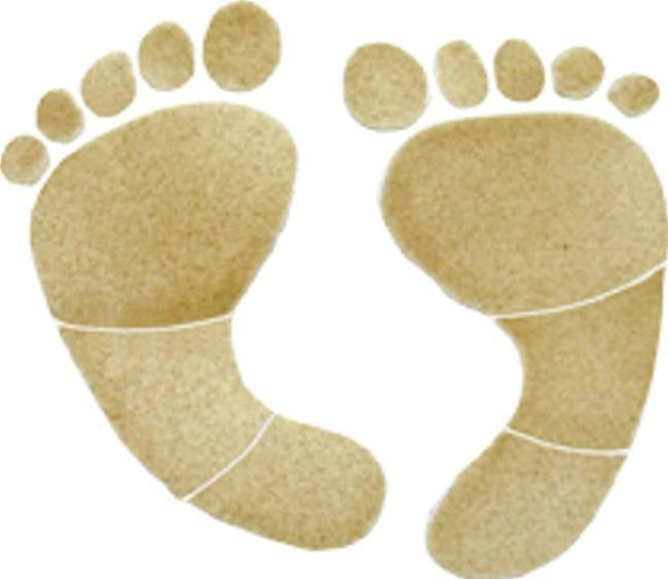 #3053 Footprints Small Tan