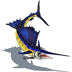 Sailfish Swimming Pool Mosaic Tile | Shadow Sailfish Tile