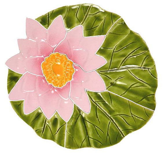 Lily Pad with Flower - Swimming Pool Mosaic Tile