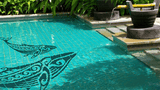 Contemporary Humpback Whale Swimming Pool  Mosaic