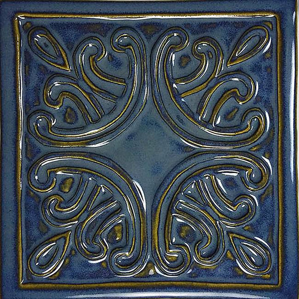 #10104 Regency Deco Waterline Tile Arctic Blue