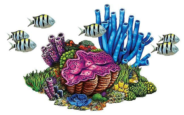 #3287 Coral Reef with Fish