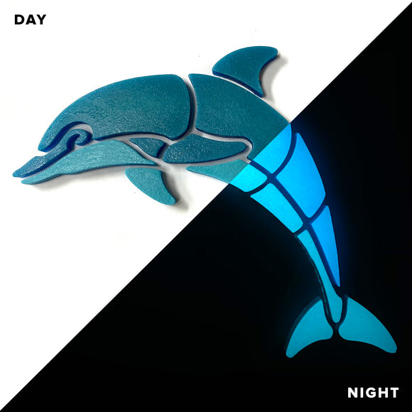 Happy Glow Dolphin - Swimming Pool Mosaic