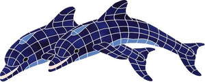 Dolphin Swimming Pool Mosaic Tile | Blue Dolphin Tile