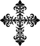 #3505 Baroque Cross Black