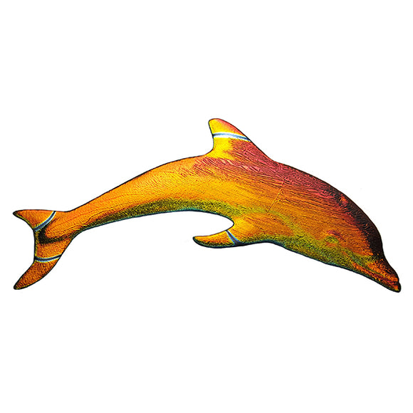 Step Marker Swimming Pool Mosaic Tile | Rainbow Fusion Dolphin Tile