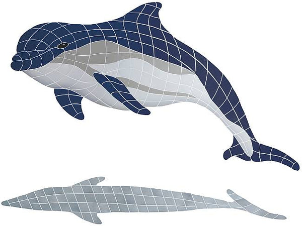 #2082 Dolphin Bottlenose Large Up Shadow