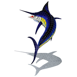Marlin Swimming Pool Mosaic Tile | Shadow Marlin Tile
