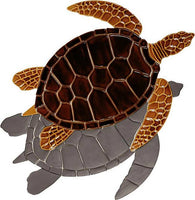 #3204 Sea Turtle Brown Small Shadow