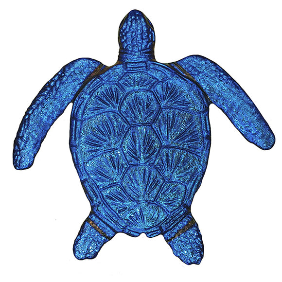 Step Marker Swimming Pool Mosaic Tile | Sapphire Fusion Loggerhead Turtle Tile