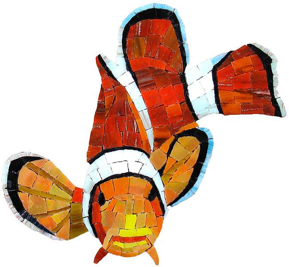 Clown Fish Swimming Pool Mosaic Tile | Clown Fish Tile
