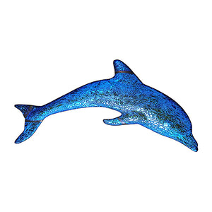 Step Marker Swimming Pool Mosaic Tile | Sapphire Fusion Dolphin Tile