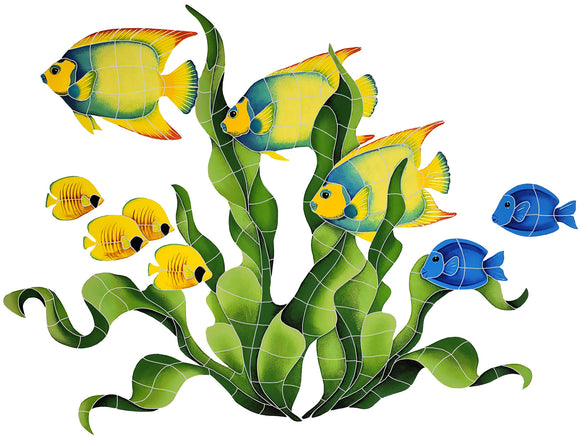 Fish in Seagrass - Swimming Pool Mosaic Tile