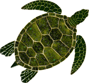 Sea Turtles - Swimming Pool Mosaic Tile