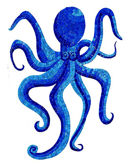 Octopus Swimming Pool Mosaic Tile | Octopus Glass Tile