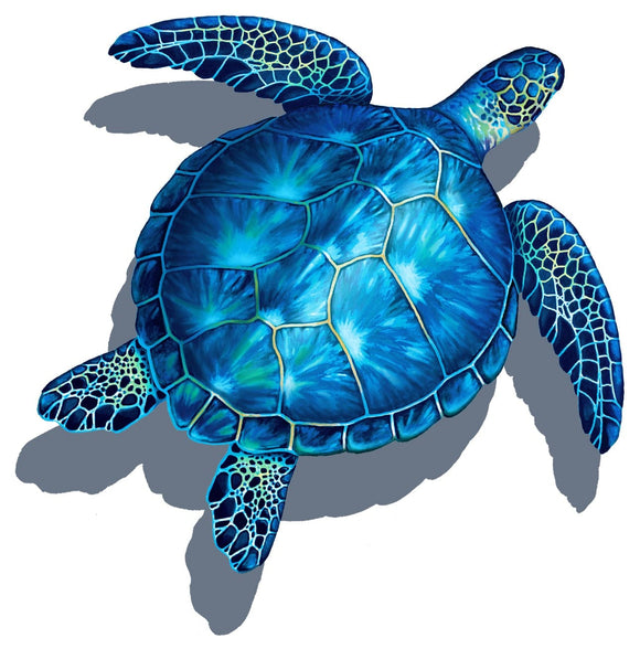 Sea Turtle Shadow - Swimming Pool Mosaic Tile