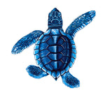 Turtle Swimming Pool Mosaic Tile | Blue Turtle Tile