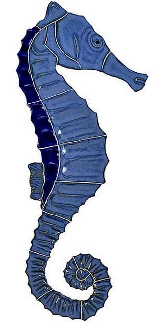 Blue Seahorse Swimming Pool Tile
