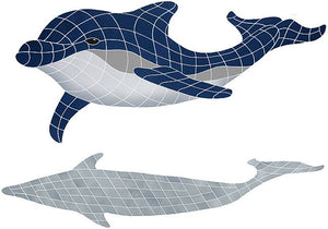 Dolphin Swimming Pool Mosaic Tile | Bottlenose Dolphin Tile