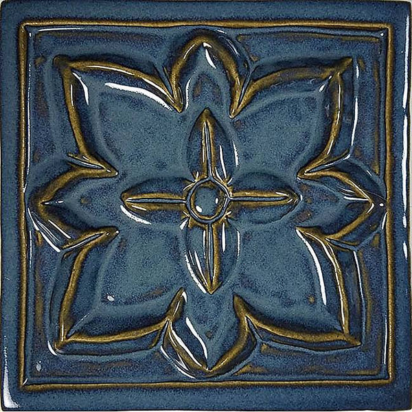 #10101 Floret Deco Waterline Tile Arctic Blue