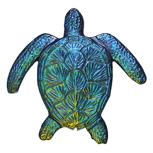 Step Marker Swimming Pool Mosaic Tile | Rainbow Fusion Loggerhead Turtle Tile