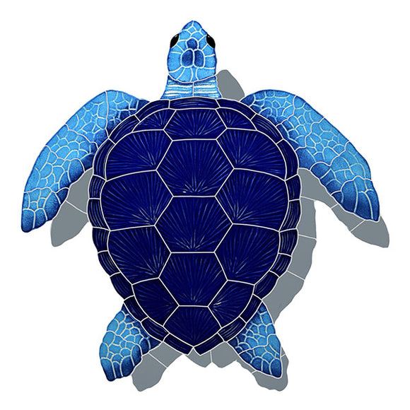 #2079 Loggerhead Turtle Small Blue Shadow