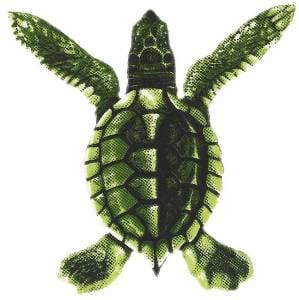 Turtle Swimming Pool Mosaic Tile | Green Turtle Tile