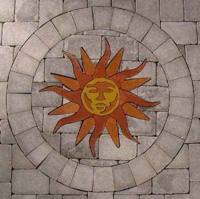 #9018 Sunburst Concrete Paver Medallion