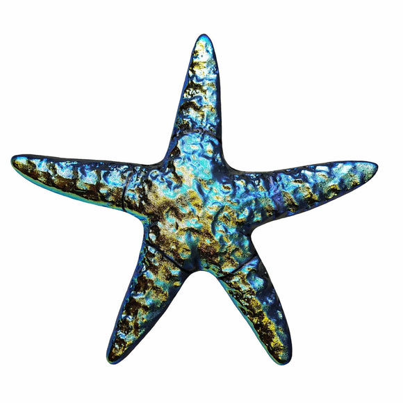 Step Marker Swimming Pool Mosaic Tile | Rainbow Fusion Starfish Tile