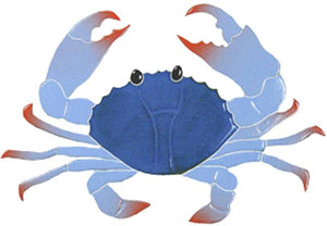 Crab Swimming Pool Mosaic Tile | Blue Crab Pool Tile