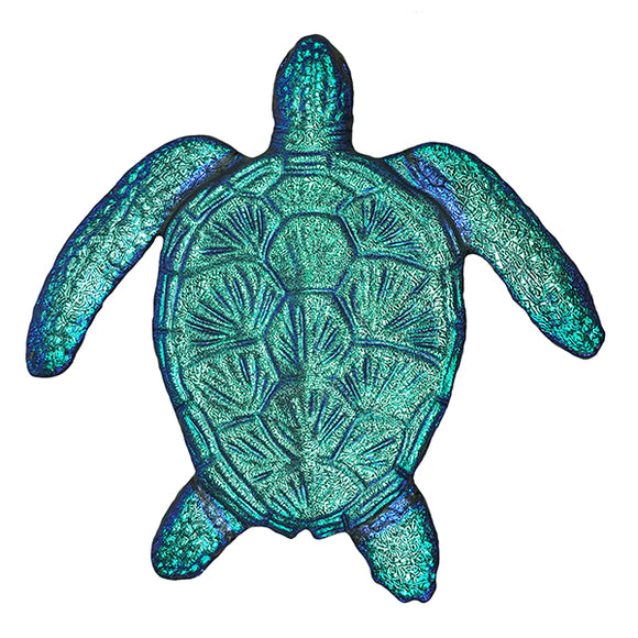 Step Marker Swimming Pool Mosaic Tile | Caribbean Fusion Loggerhead Turtle Tile