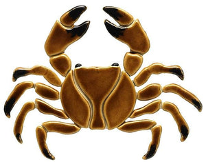 Crab Swimming Pool Mosaic Tile | Brown Crab Pool Tile