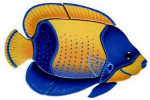 Majestic Angelfish Swimming Pool Mosaic Tile | Majestic Angelfish Pool Tile