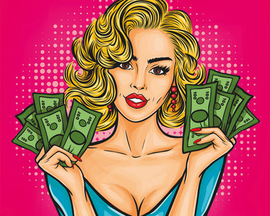 Cash Lady (Malen nach Zahlen Set)
