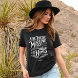 Kerusso® Christian T-Shirt Live Justly Love Mercy