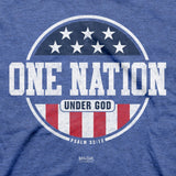 Kerusso® Christian T-Shirt Patriotic One Nation Under God